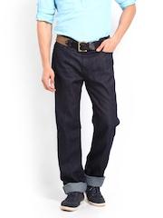 Calvin Klein Jeans Men Navy Straight Fit Jeans