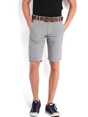 Calvin Klein Jeans Men White & Black Checked Shorts