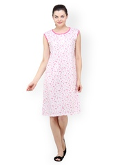 Camey Pink Printed Nightdress
