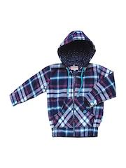 Campana Unisex Kids Multicoloured Checked Hooded Jacket