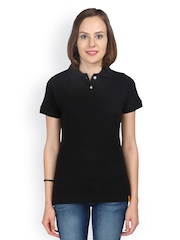Campus Sutra Women Pack of 3 Black Polo T-shirts