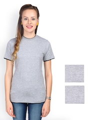 Campus Sutra Women Pack of 3 T-shirts