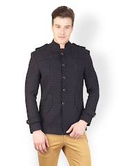 Canary London Men Black Checked Blazer