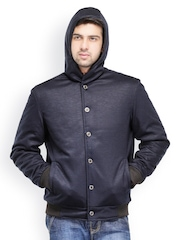 Canary London Men Navy Blue Hooded Jacket