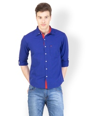 Canary London Men Blue Casual Shirt