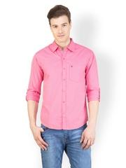 Canary London Men Pink Checkered Shirt