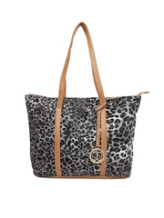 Cappuccino Black & Grey Printed Shoulder Bag