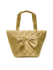 Cappuccino Gold-Toned Handbag