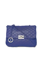 Cappuccino Navy Quilted Sling Bag