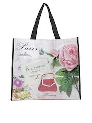 Cappuccino Women Multicoloured Printed Tote Bag