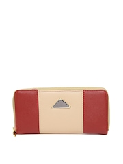 Cappuccino Women Peach-Coloured & Red Wallet