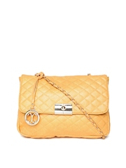 Cappuccino Yellow Quilted Sling Bag