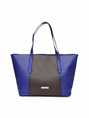 Caprese Blue & Brown Handbag