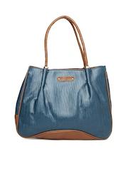 Caprese Teal Blue & Brown Handbag