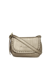 Caprese Muted Gold Toned Sling Bag