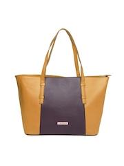 Caprese Orange & Brown Oversized Handbag