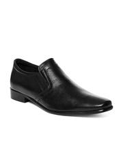 Carlton London Men Black Leather Formal Shoes