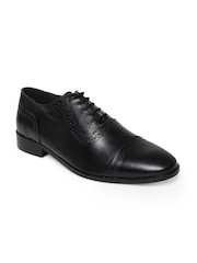 Carlton London Men Black Semi-Formal Shoes