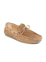 Carlton London Men Brown Suede Boat Shoes
