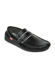 Carlton London Men Black Loafers