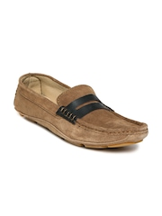 Carlton London Men Brown Suede Loafers