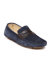 Carlton London Men Navy Suede Loafers