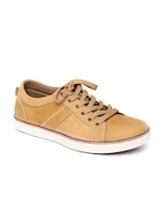 Carlton London Men Camel Brown Leather Casual Shoes