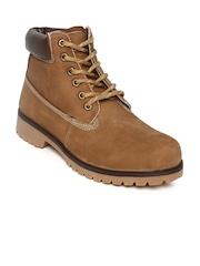 Carlton London Men Brown Leather Casual Shoes