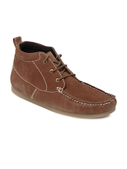 Carlton London Men Brown Suede Casual Shoes