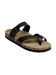 Carlton London Men Black Sandals
