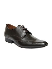 Carlton London Men Dark Brown Leather Formal Shoes