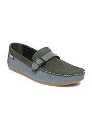 Carlton London Men Grey & Blue Casual Shoes