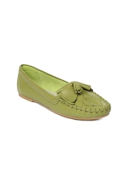 Carlton London Women Lime Green Loafers