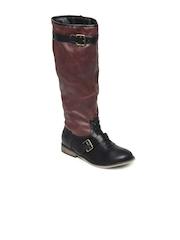Carlton London Women Burgundy & Black Boots