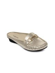 Carlton London Women Muted Gold Toned Flat Shoes