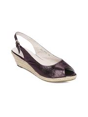 Carlton London Women Shimmery Purple Sandals