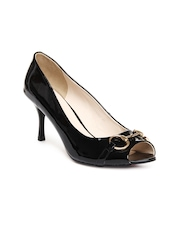 Carlton London Women Black Peep Toes