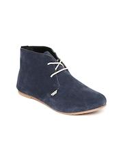 Carlton London Women Navy Suede Casual Shoes