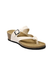 Carlton London Women Off-White Sandals