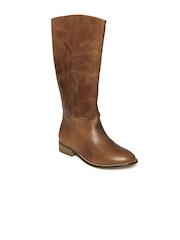 Carlton London Women Tan Brown Leather Boots
