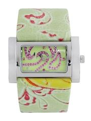 Carpe Diem Women Green & Pink Dial Watch