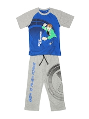 Cartoon Network Blue & Grey Printed Clothing Set