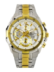 Casio Edifice Men Silver Toned Dial Watch EX189