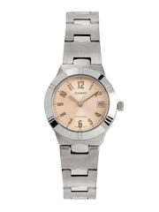 Casio Enticer Women Peach Coloured Dial Watch A851
