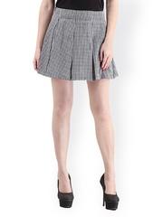 Cation Black & White Checked Flared Skirt