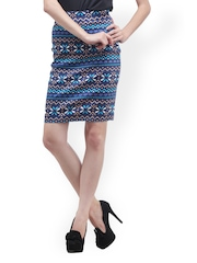 Cation Printed Pencil Skirt