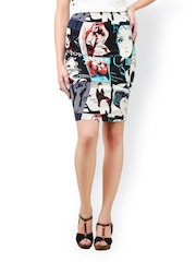Cation Multicoloured Printed Pencil Skirt