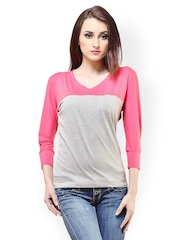 Cation Women Pink & Grey Top