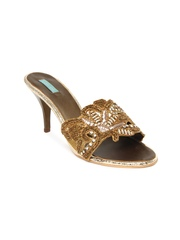 Catwalk Women Antique Gold Toned Heels