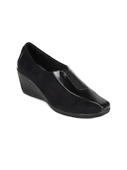Catwalk Women Black Heeled Shoes